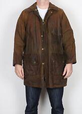 "BARBOUR 1970's Solway Zipper Wax Jacket Chest 40"" Brown Medium (J2E)"