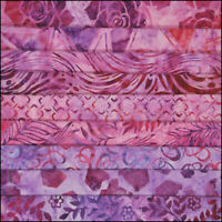 LOT 9 FAT QUARTERS PINK FLAMINGO BATIKS LUNN FABRICS SPECIAL EDITION FAT QUARTER