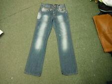 """Voi Jeans Dibujó Vaqueros Cintura 32""""Pierna 34"""" Descolorido Azul Oscuro Hombre"""