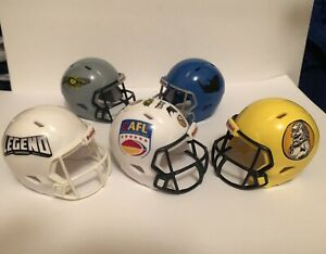 Chinese Arena Football League Custom Pocket Pro Football Helmet Set