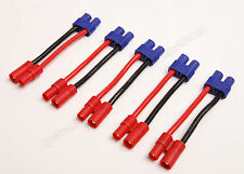 Lot(5) Male 3.5mm Bullet to Female EC3 Connector Adapter Wire for RC ESC