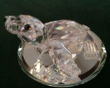 Vintage Swarovski Silver Crystal Baby Seal Lion Figurine*