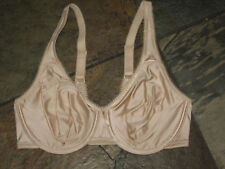 378 Wacoal Size 34D Nude Satin Basic Beauty Softcup Underwire Bra #855192 EUC