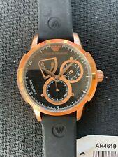 Brand new Men's Armani black rose gold kinetic  watch ar4619