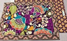 VERA BRADLEY~Quilted Placemats~PLUM CRAZY~Set of Four(4)~RARE & RETIRED~BNWT!