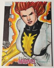 2013 Women Of Marvel 1/1 SketchaFEX White Phoenix Sketch Card by Mark Marvida