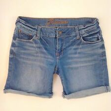 Delia's Reece Jean Shorts Size 5/6 Mid Thigh Length Rolled Cuffed Medium Wash