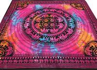 Wall Hanging Mandala Tapestry Elephants Cotton Queen Batik Bedspread India Boho