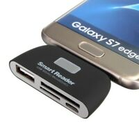 4in1 OTG/TF/SD Smart Card Reader Adapter Micro USB Charge Port For Android phone