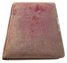 Antique Victorian Photo Album Embossed Purple Maroon Padded Cover Empty Vtg