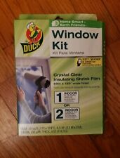 "Duck Brand Window Insulating Film Crystal Clear 84"" x 120"" 70 Square Feet NEW"