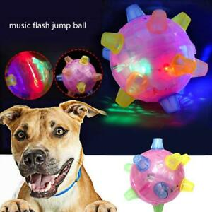 Electric Glow Jumping Activation Ball For Dog LED Flashing Bouncing Light Toy *1