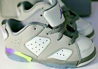Air Jordans Retro Toddler Shoes Low (GT) NEW AUTHENTIC Grey/Violet SIZE 10c TD
