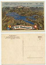 24424-il lago di Costanza-CARTINA-vecchia cartolina