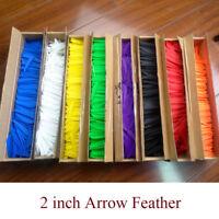"800pcs 2"" Archery Arrow Rubber Vanes Feather Fletching Fletches DIY Wholesale"
