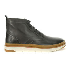 Hush Puppies Men's Caleb PT Boots Dark Grey Leather HM01132-021 NEW