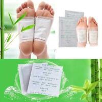 2Pcs Ginger Detox Foot Pads Patch Healthy Herbal Cleansing Pad New Detox N6U7