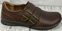 BOC Born Concept Brown Leather Loafers Shoes Buckle Double Strap Womens 6.5 M