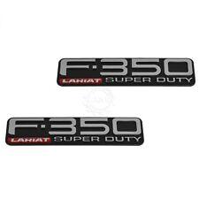 OEM F-350 Lariat Super Duty Fender Nameplate Emblem Pair Set for Ford Pickup New