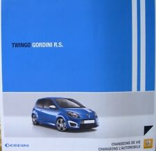 = RENAULT - TWINGO GORDINI R.S Février 2010 - Dépliant de 6 Pages
