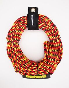 Boatworld 4 Rider Waterski Inflatable Towable Ringo Donut Rope 55ft C/W Float