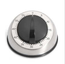 Stainless Steel Kitchen Cooking Timer 60-MINUTE Long Ring Bell Alarm Loud US