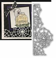 Halloween dies  SPIDER WEB BORDER Memory Box metal die 99199 Holidays insects