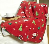 "Christmas Throw Over Blankets - 50""x60"" - Santa & Nordic Design Xmas Accessories"