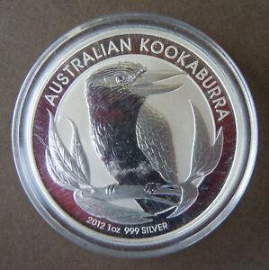 Australien 1 Unze Silber Kookaburra 2012 Stempelglanz