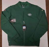 Nike Shield New York Jets Bomber Jacket NFL 943977-323 Men's Size Medium $200
