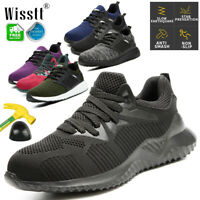 AU Men's Work Boots Safety Shoes Steel Toe Caps Sneakers Lightweight Breathable