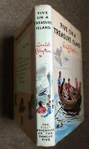 Five On A Treasure Island by Enid Blyton 1963.   Hardback, Dust Jacket