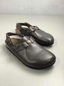 Men's Birkenstock Brown Leather Clogs Size 9