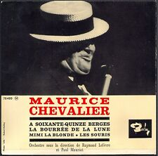 MAURICE CHEVALIER A SOIXANTE QUINZE BERGES 45T EP BIEM BARCLAY 70.499