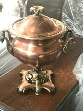 More details for antique victorian brass and copper samovar [ 6971 r ]