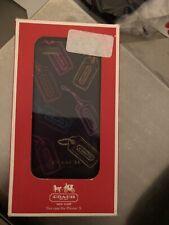 COACH Polka Dot iPhone 5 Case/Cover- Black Hangtags