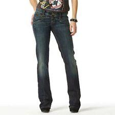 LEVIS 570 Femme Droite Bleu Denim Délavé Jeans Stretch Red Tab W28 L34 Uk10