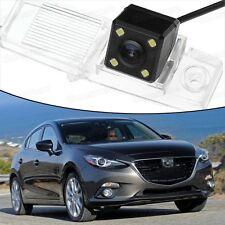 4 LED CCD Rearview Camera Reverse Parking Backup for Mazda 3 Hatchback 2014-2016