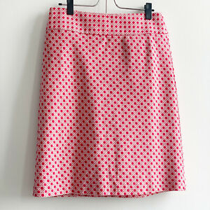 Talbots A-line red and white skirt SZ: 4