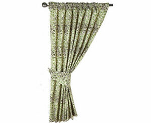 William Morris Gallery Green Willow Bough Fully Lined Curtains & Tie Backs