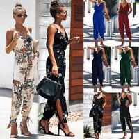 Womens Cami Playsuit High Waist Romper Tops Ladies Beach Floral Floral Jumpsuit