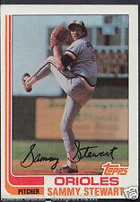 Tarjeta de béisbol Topps 1982-no 679-Sammy Stewart-Los Orioles de