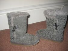 Girls Winter Fur Lined Boots Infant Size 9 M & S