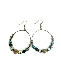 Ethnic Wooden Beaded Earrings  / Ladies Wooden Earrings / Ladies Wooden Gift