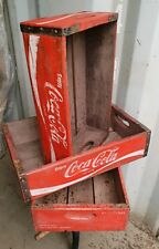 Vintage Coca Cola crate wooden tray crate