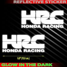 "*6.0""X 2p. HRC honda racing team safety glow decal sticker die-cut motor bike"