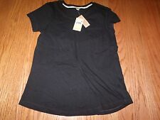 NWT WOMENS WOOLRICH Short Sleeve Pocket T-shirt Tee BLACK SIZE MEDIUM M