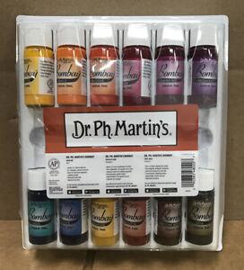 Dr. Ph. Martin Bombay India Ink (Set 2) Set, 0.5 Oz, Colors, Of 12 Bottles