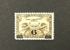 {BJ Stamps} CANADA, C3, 1932, 6¢ on 5¢ Surcharge Airmail. F-VF, OG, MNH. CV $20.