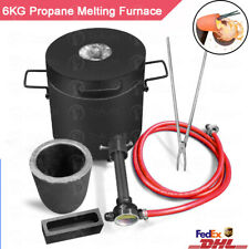 6KG Propane Melting Furnace Gas Metal Copper Jewellery Smelter Graphite Crucible